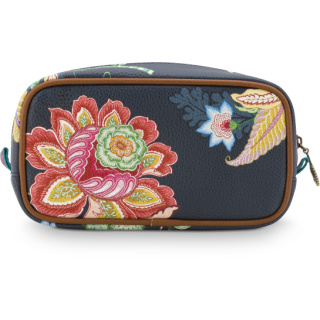 Pip Studio Cosmetic Bag Square Small Jambo Flower Blue 20x10.5x7.5cm