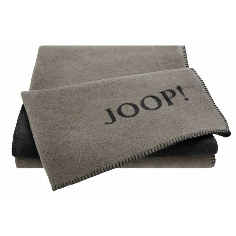 JOOP! UNI-DOUBLEFACE Plaid Farbe Taupe-Anthrac. Größe 150x